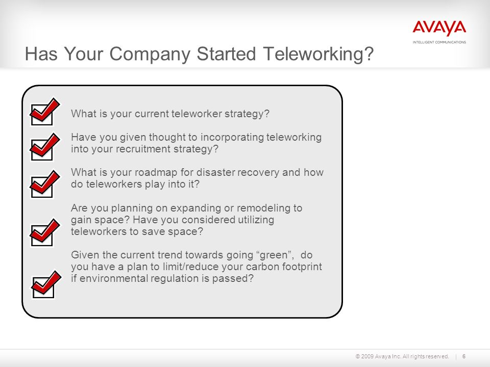 Has Your Company Started Teleworking