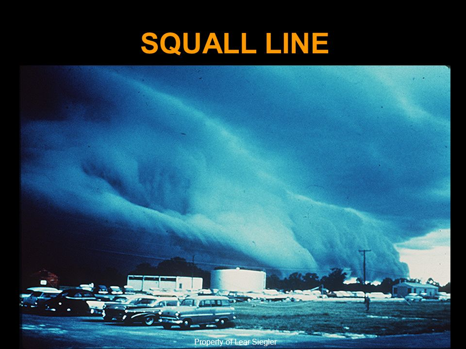 SQUALL LINE Property of Lear Siegler
