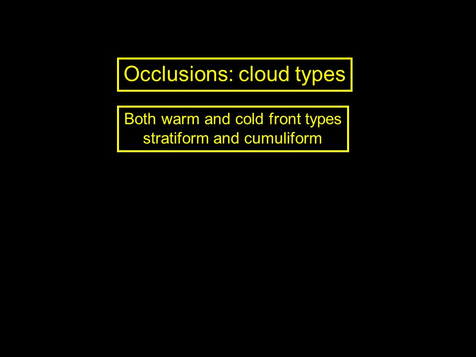 Occlusions: cloud types
