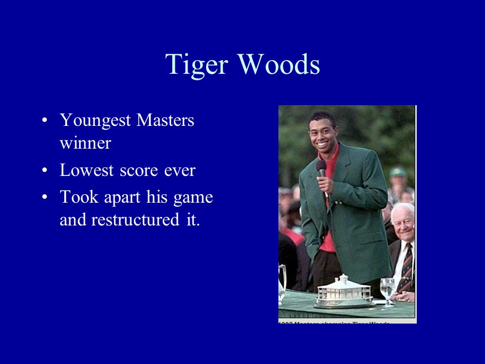 Tiger Woods Youngest Masters winner Lowest score ever