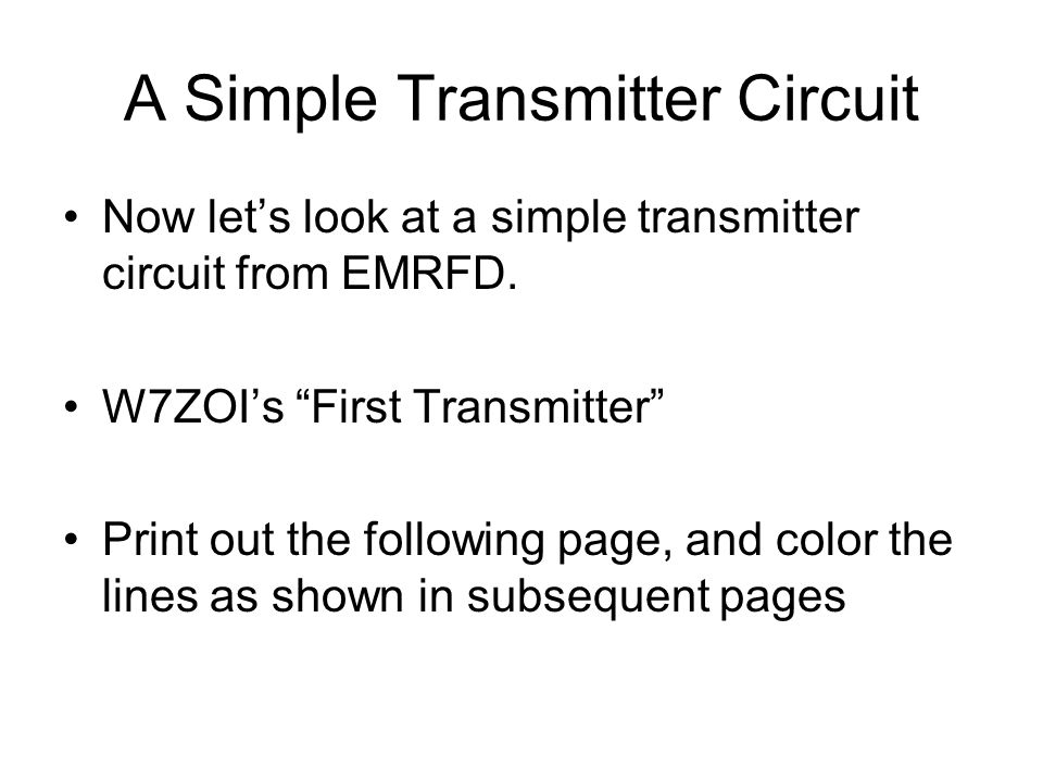 A Simple Transmitter Circuit