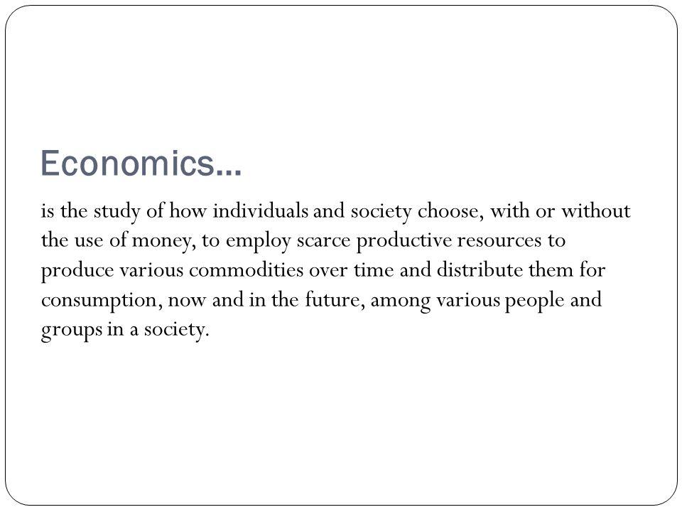 Economics…