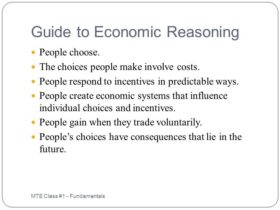 Guide to Economic Reasoning