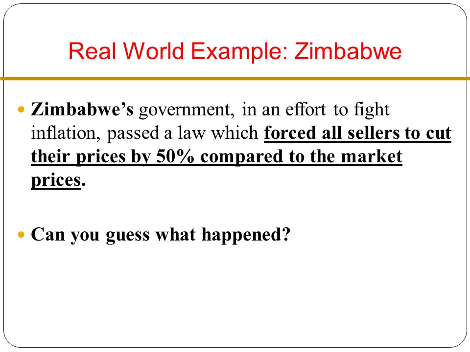 Real World Example: Zimbabwe