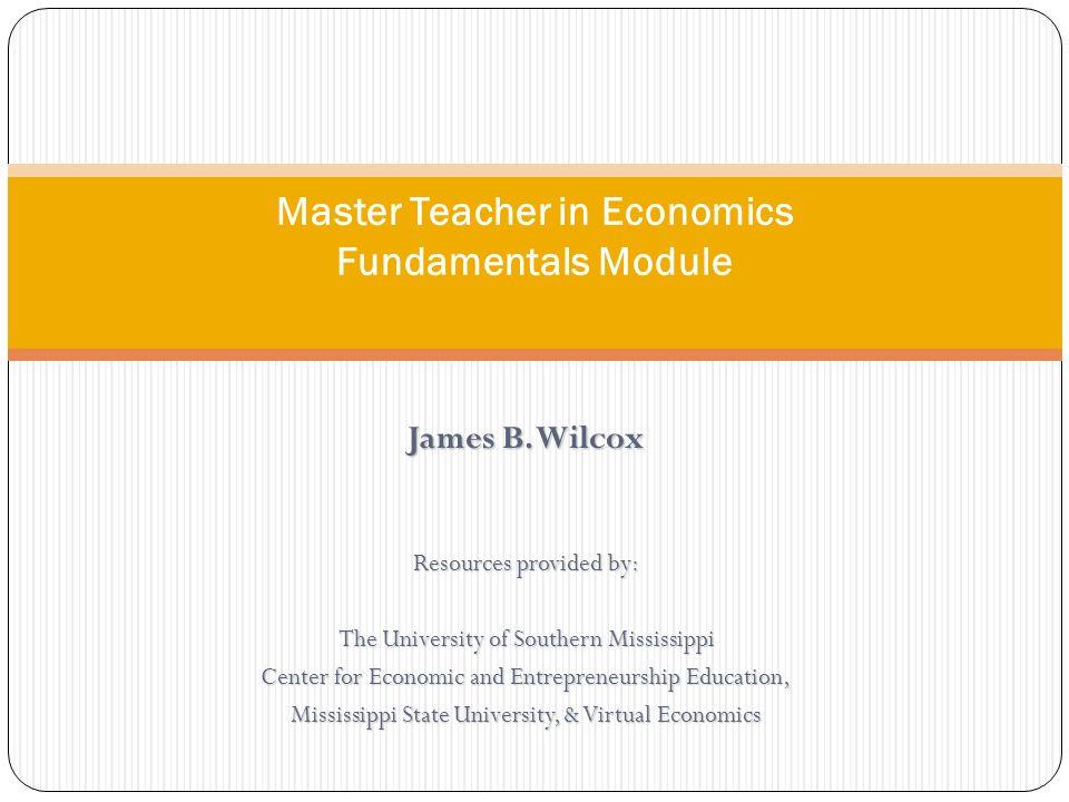 Master Teacher in Economics Fundamentals Module