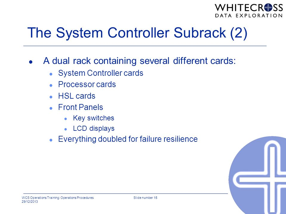 The System Controller Subrack (2)