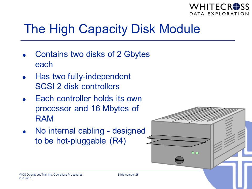 The High Capacity Disk Module