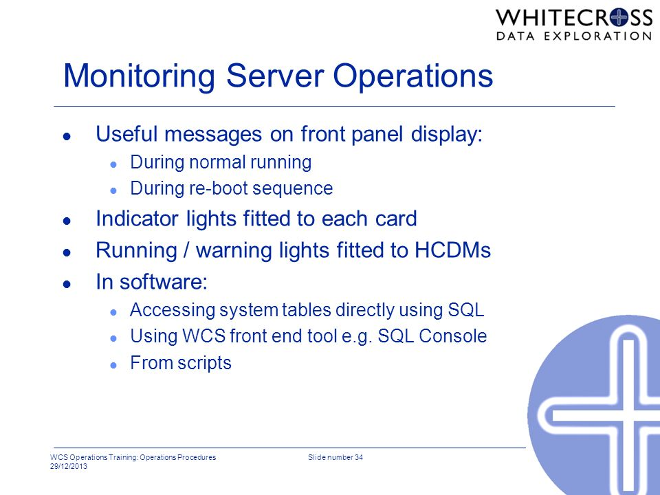 Monitoring Server Operations