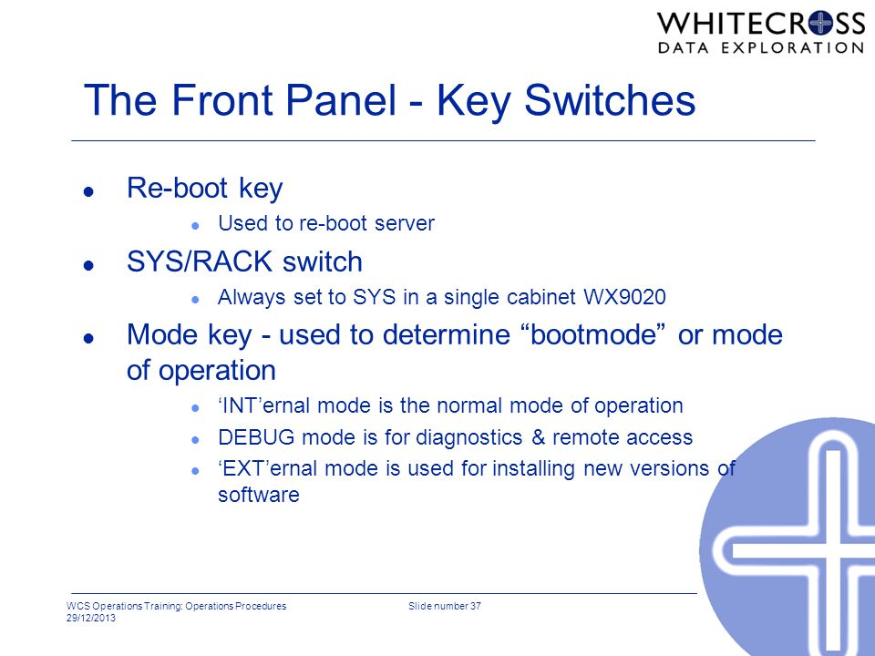The Front Panel - Key Switches
