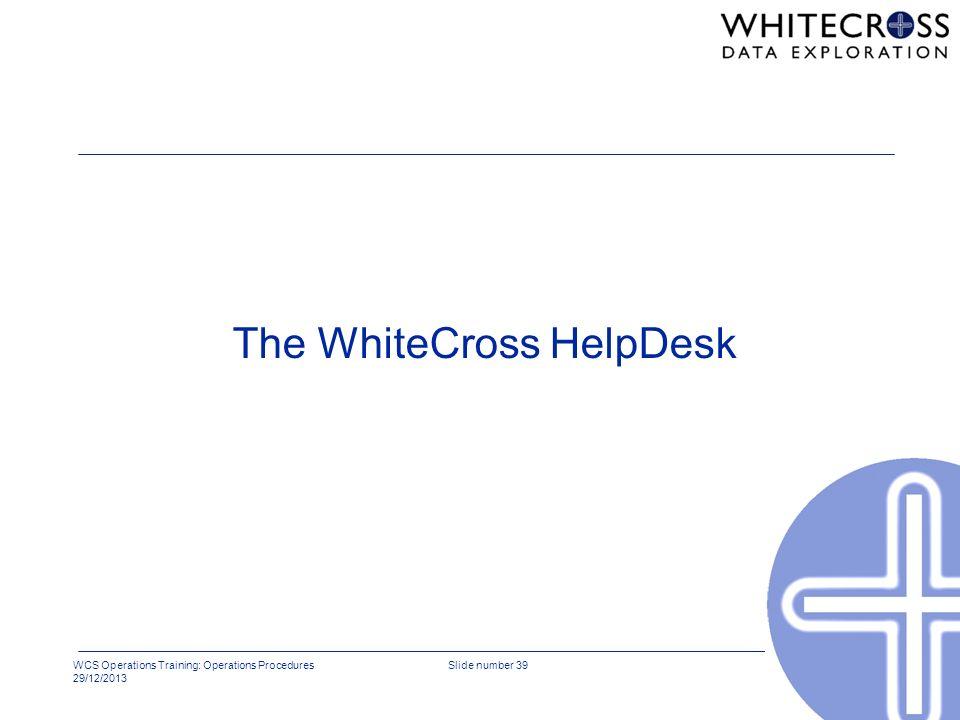 The WhiteCross HelpDesk