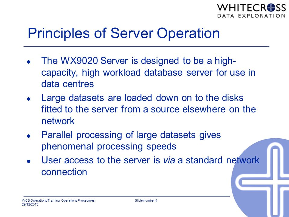 Principles of Server Operation