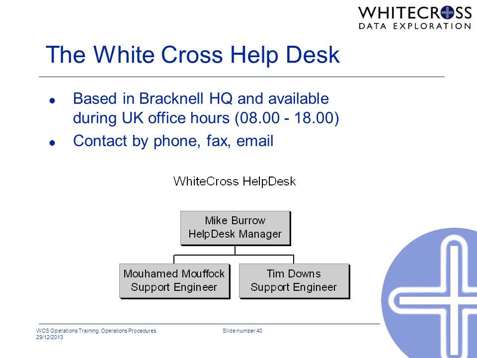 The White Cross Help Desk