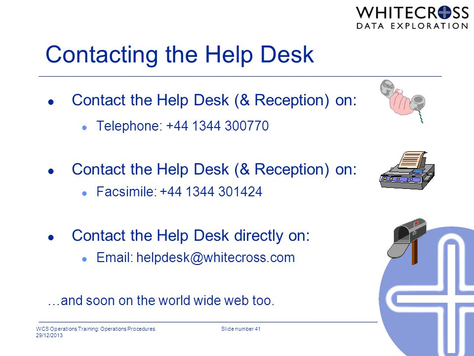 Contacting the Help Desk