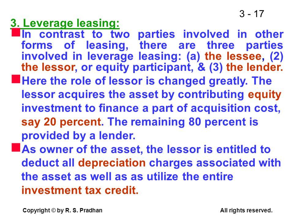 3. Leverage leasing: