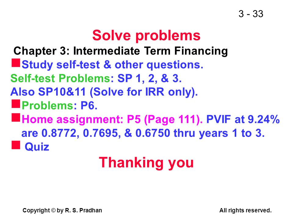 Solve problems Thanking you
