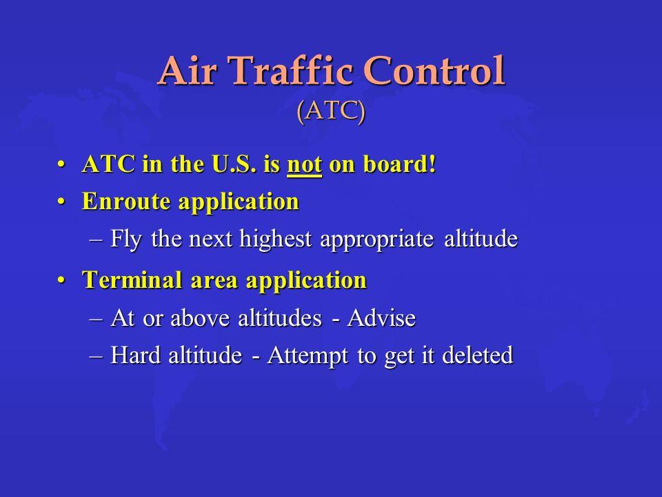 Air Traffic Control (ATC)