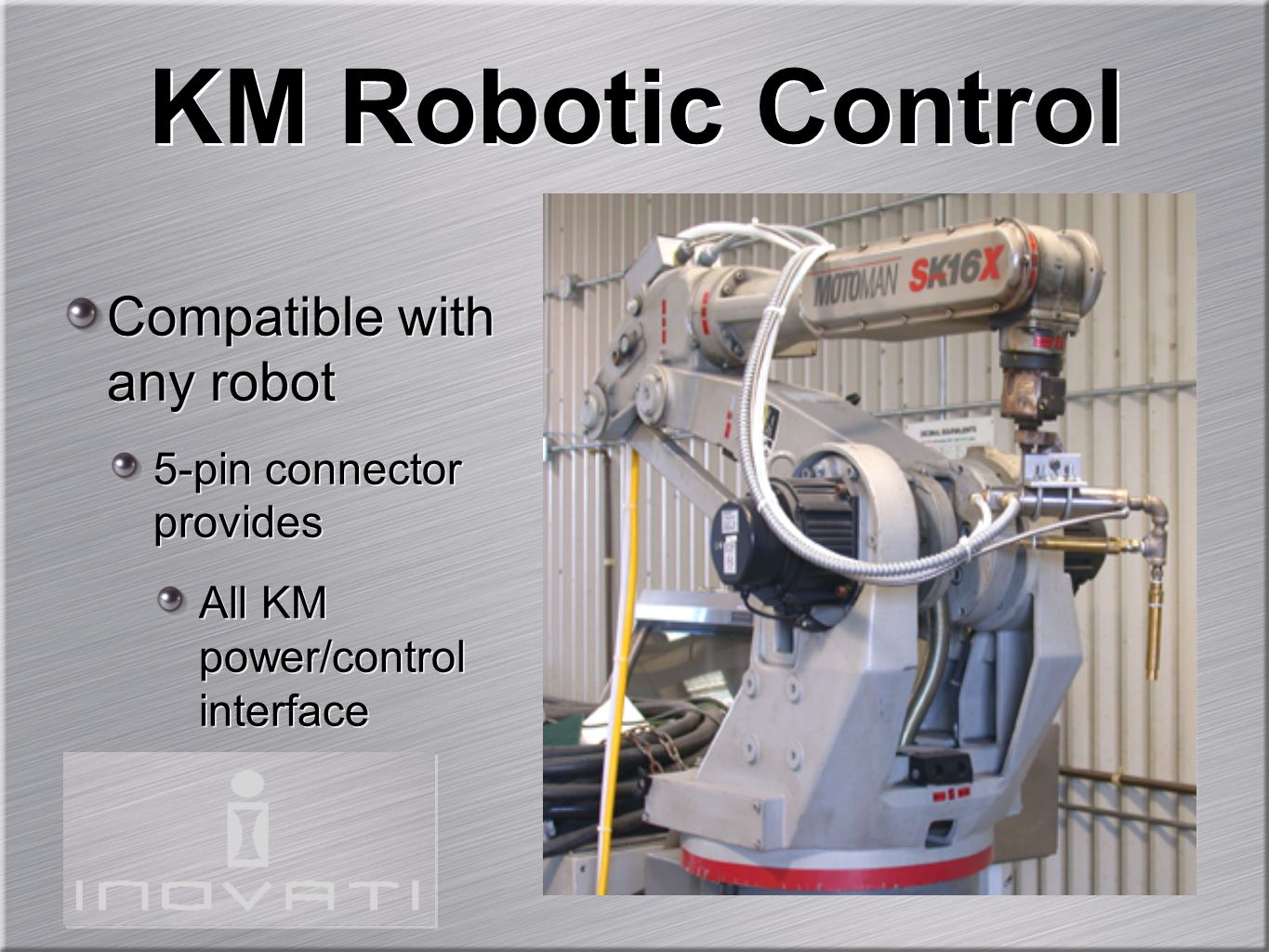 KM Robotic Control Compatible with any robot 5-pin connector provides