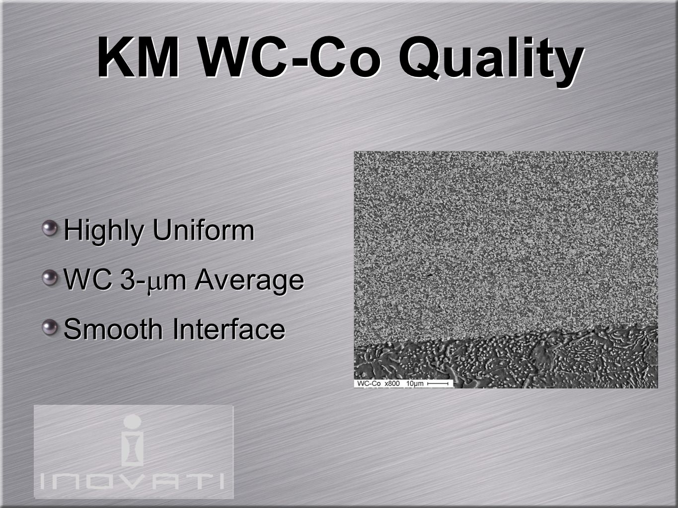 KM WC-Co Quality Highly Uniform WC 3-m Average Smooth Interface