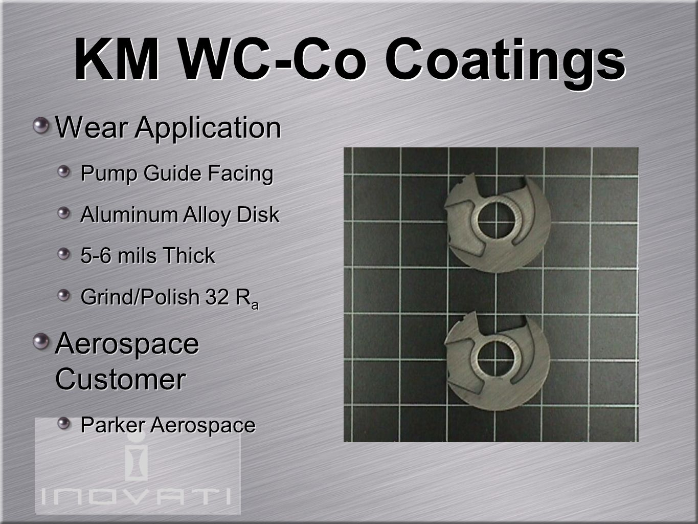 KM WC-Co Coatings Wear Application Aerospace Customer