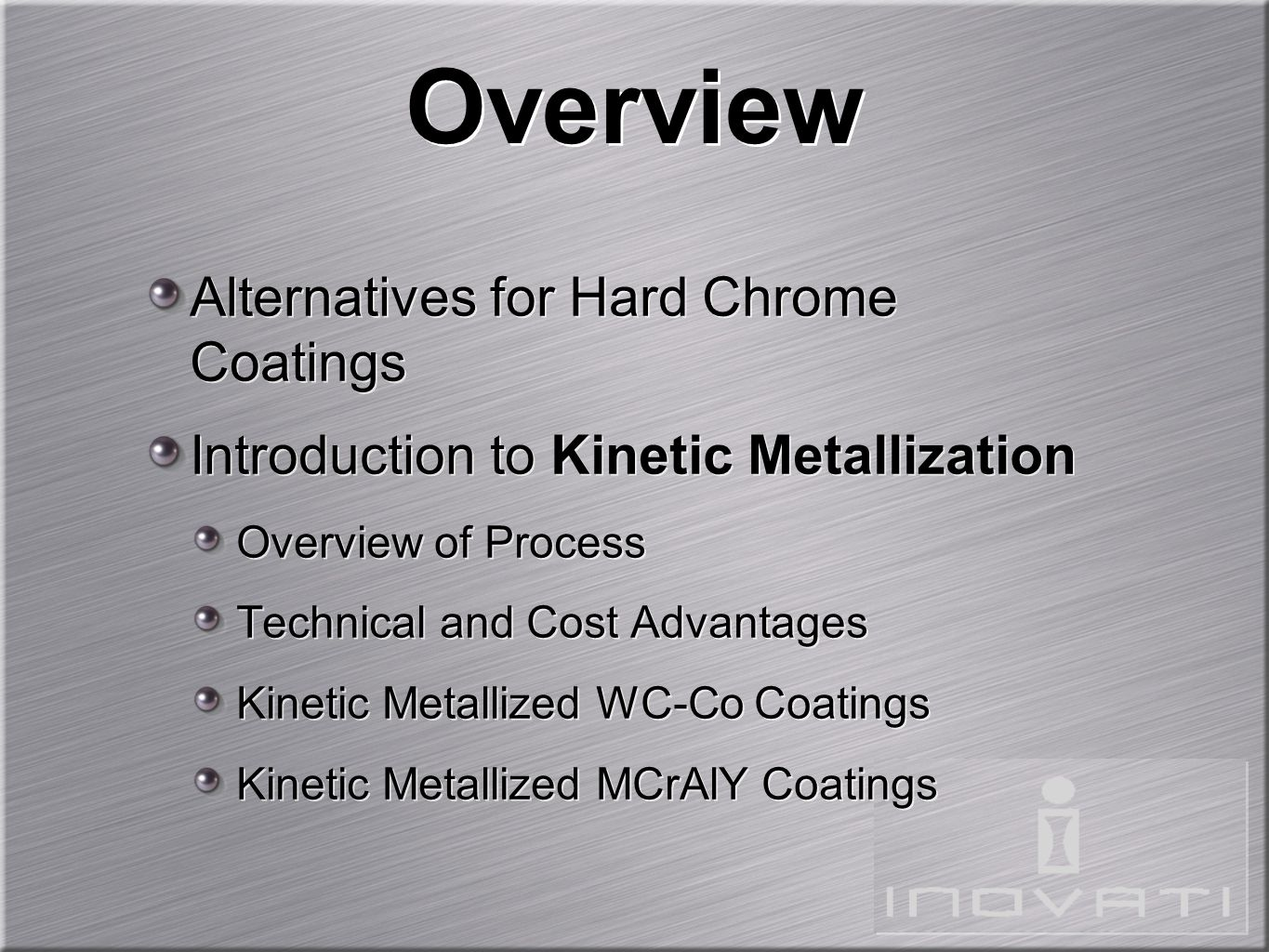 Overview Alternatives for Hard Chrome Coatings