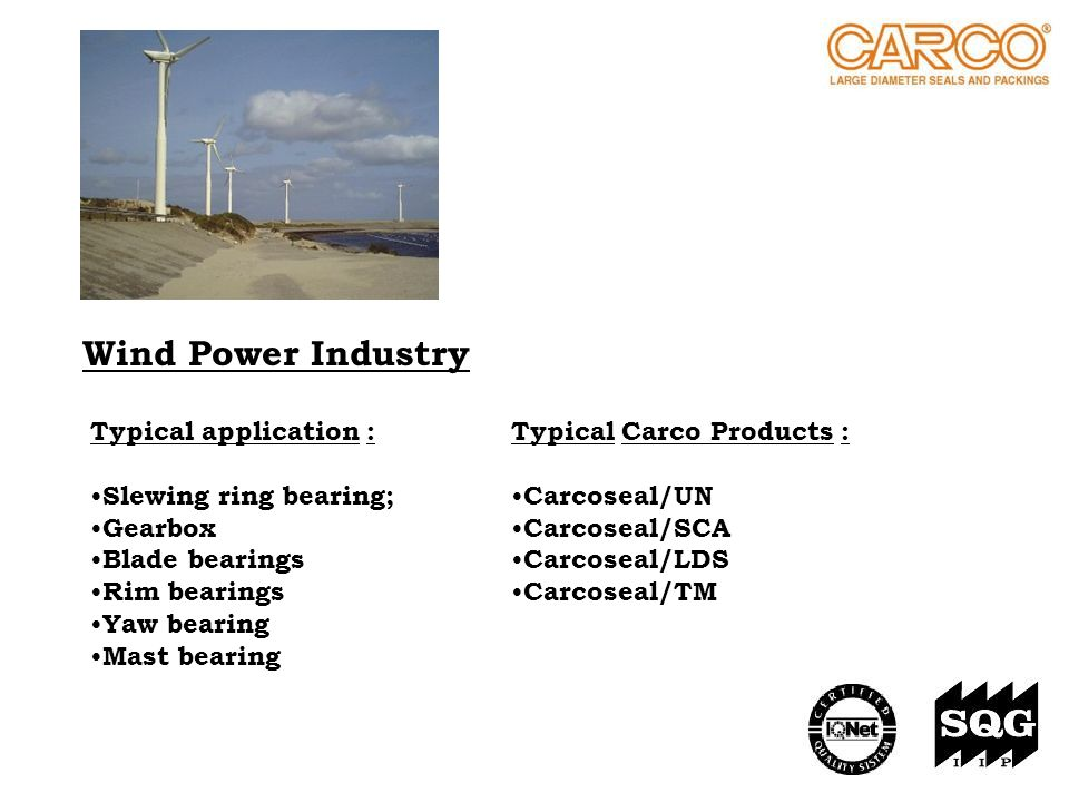 Wind Power Industry Typical application : Slewing ring bearing;