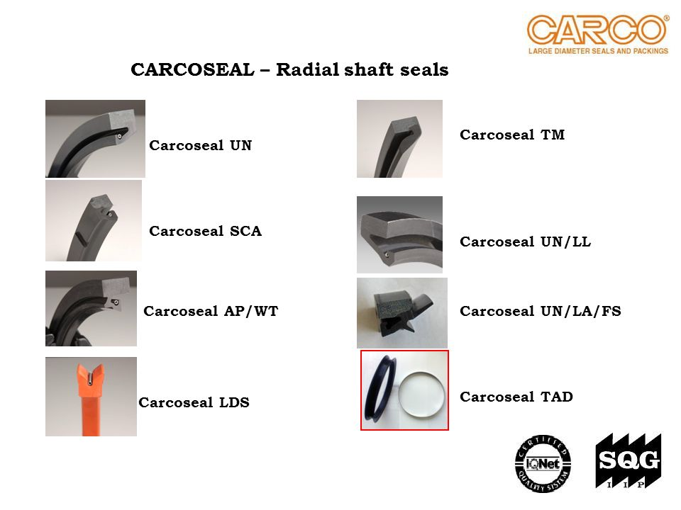 CARCOSEAL – Radial shaft seals