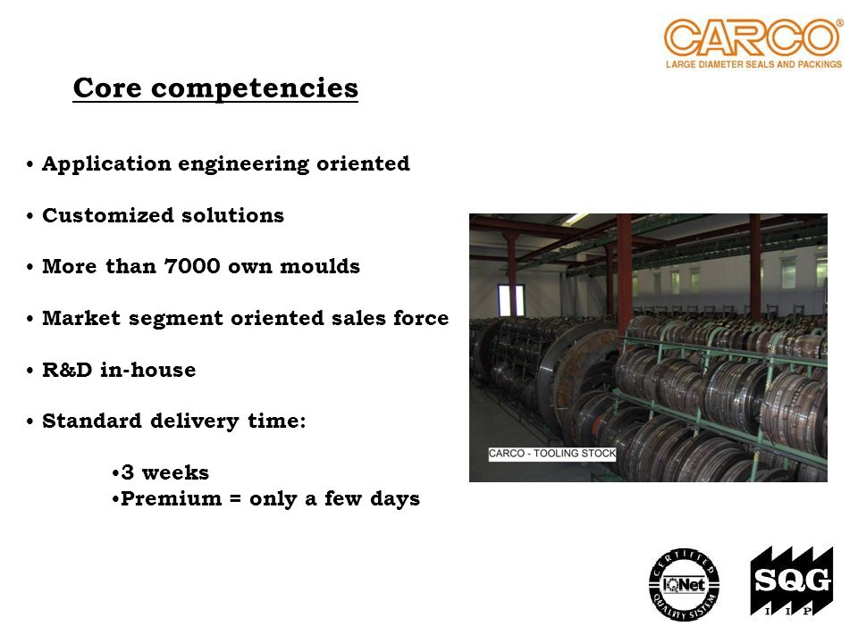 Core competencies Application engineering oriented