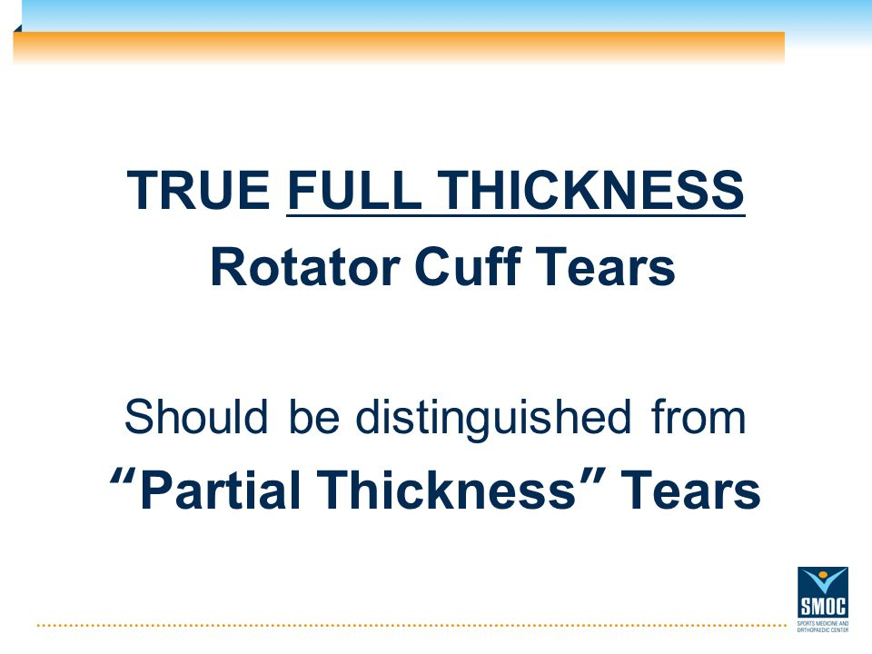 Partial Thickness Tears