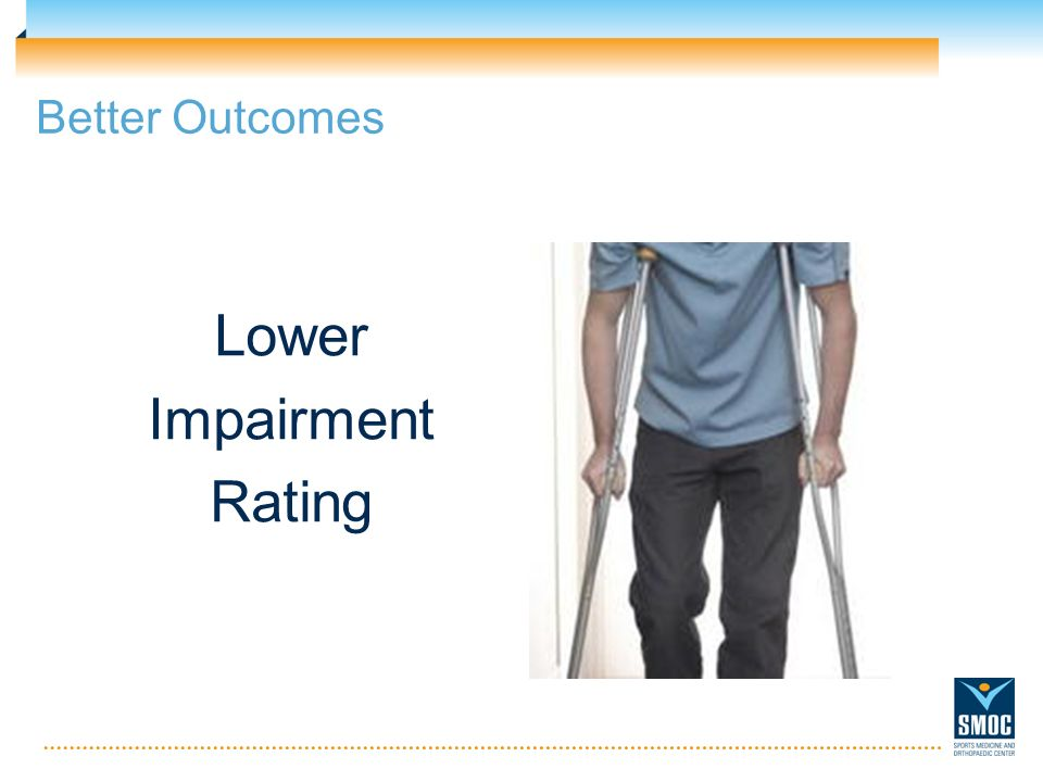 Better Outcomes Lower Impairment Rating