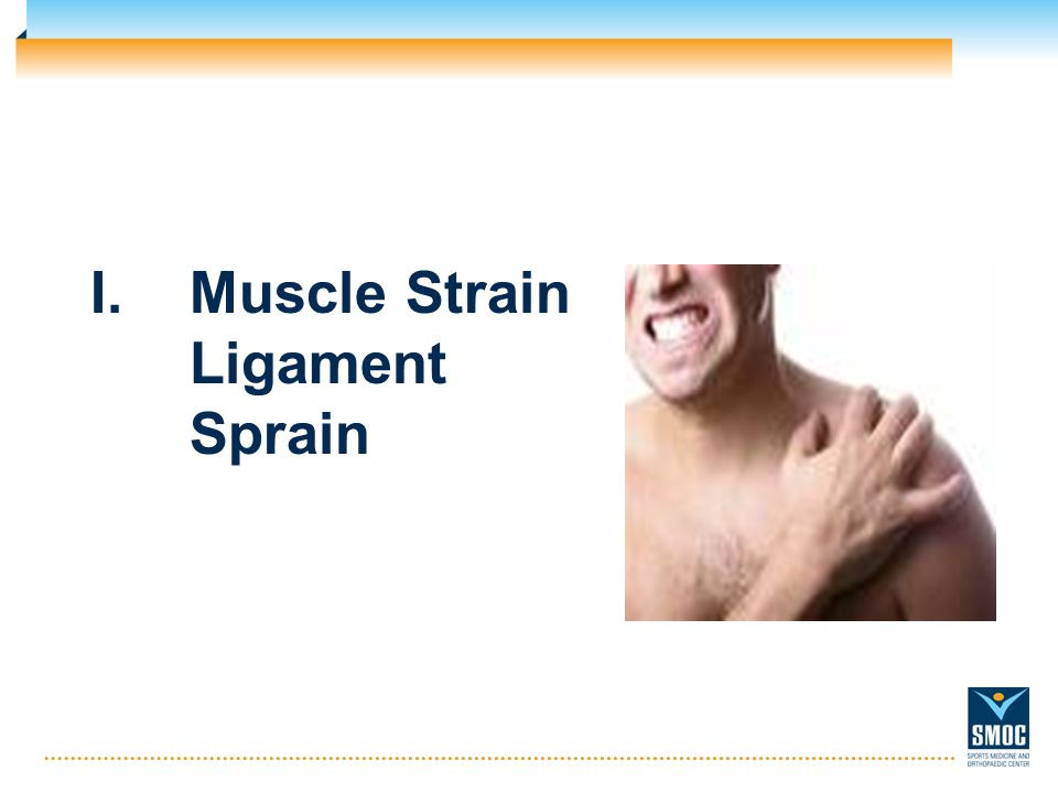 Muscle Strain Ligament Sprain