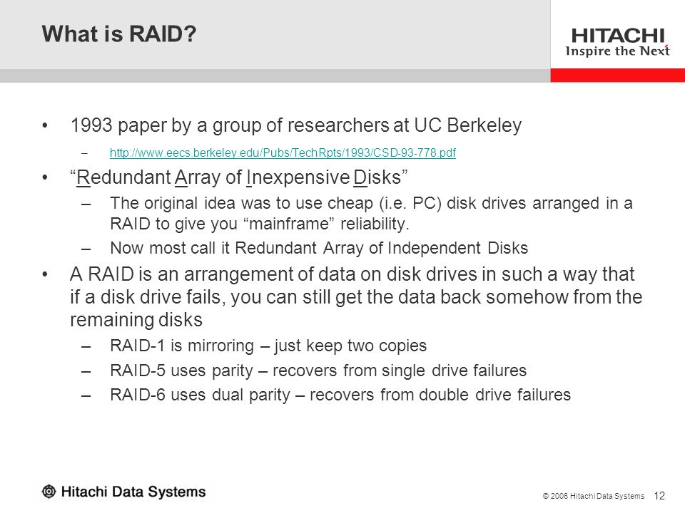 What is RAID 1993 paper by a group of researchers at UC Berkeley