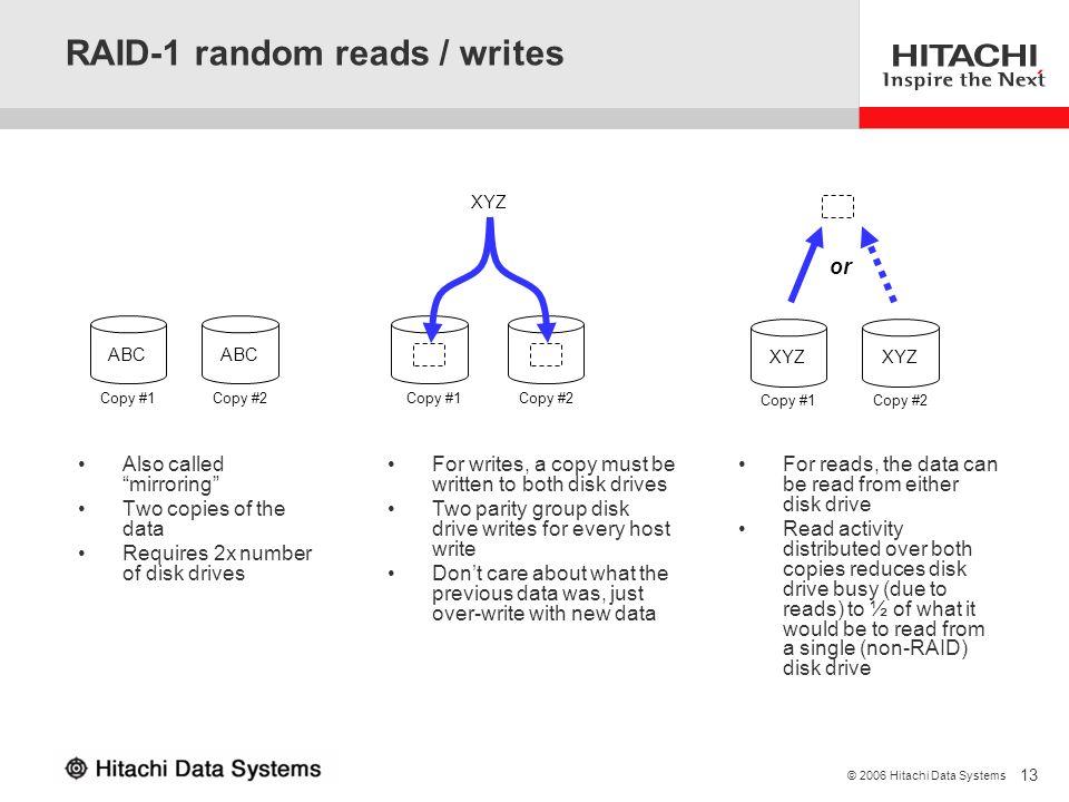 RAID-1 random reads / writes