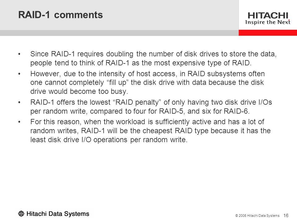 RAID-1 comments