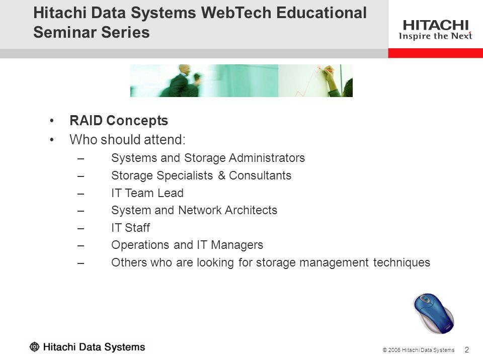 Hitachi Data Systems WebTech Educational Seminar Series