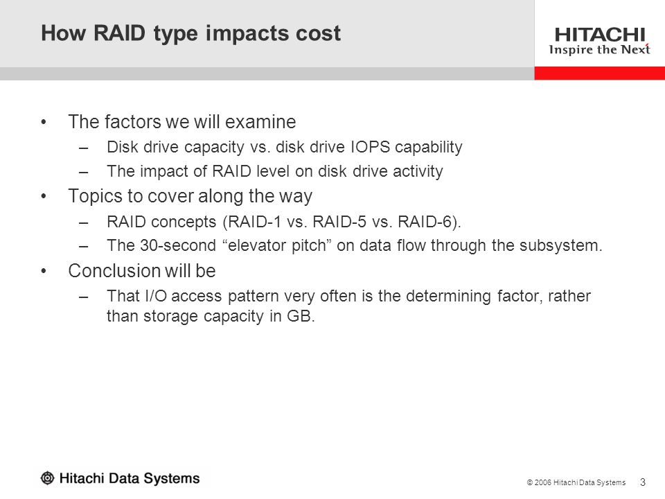 How RAID type impacts cost