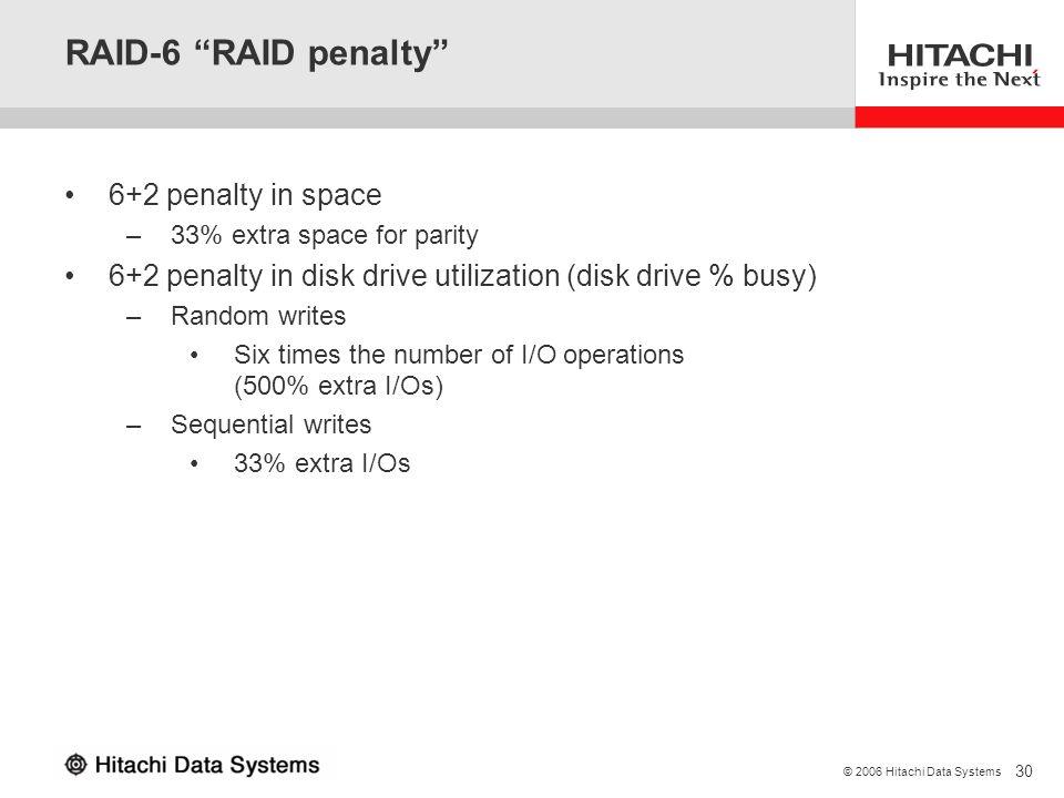 RAID-6 RAID penalty 6+2 penalty in space