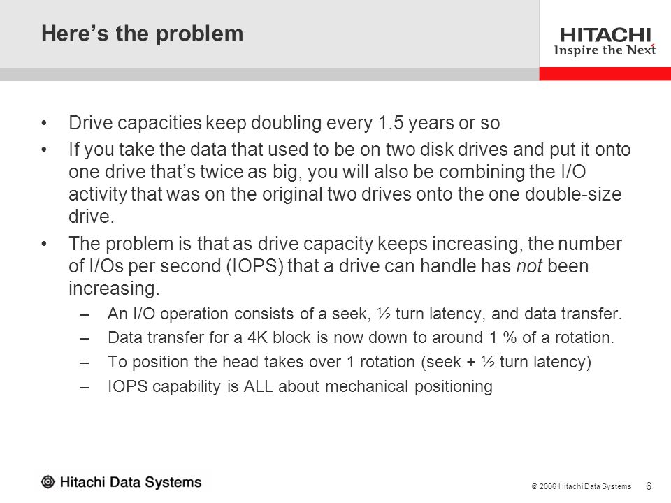 Here's the problem Drive capacities keep doubling every 1.5 years or so.