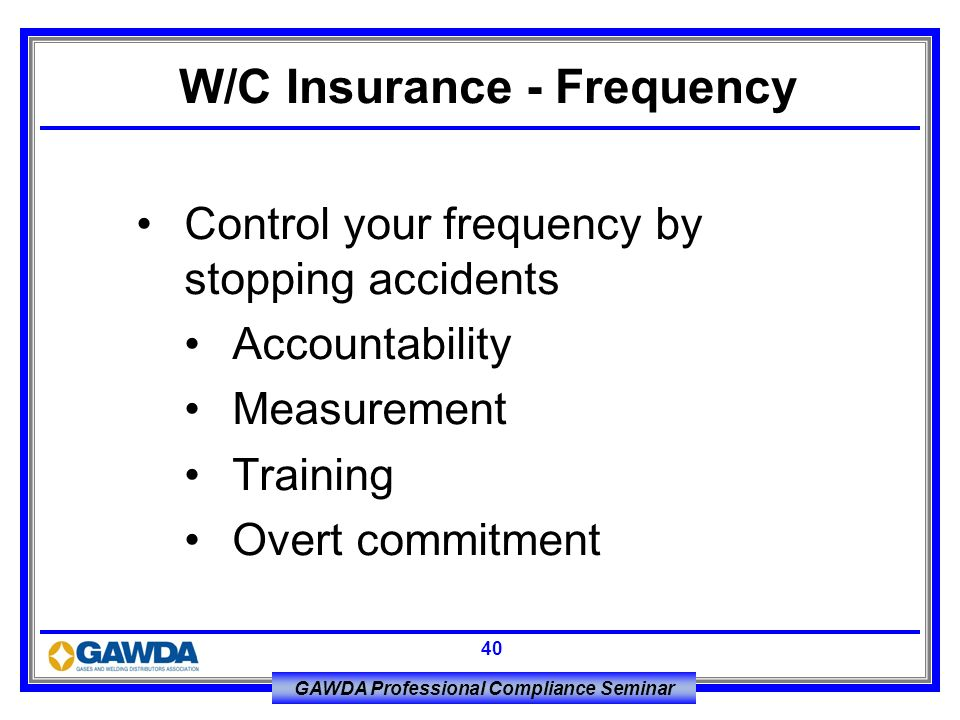 W/C Insurance - Frequency