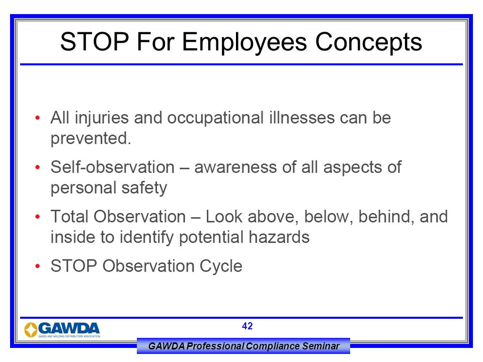 STOP For Employees Concepts
