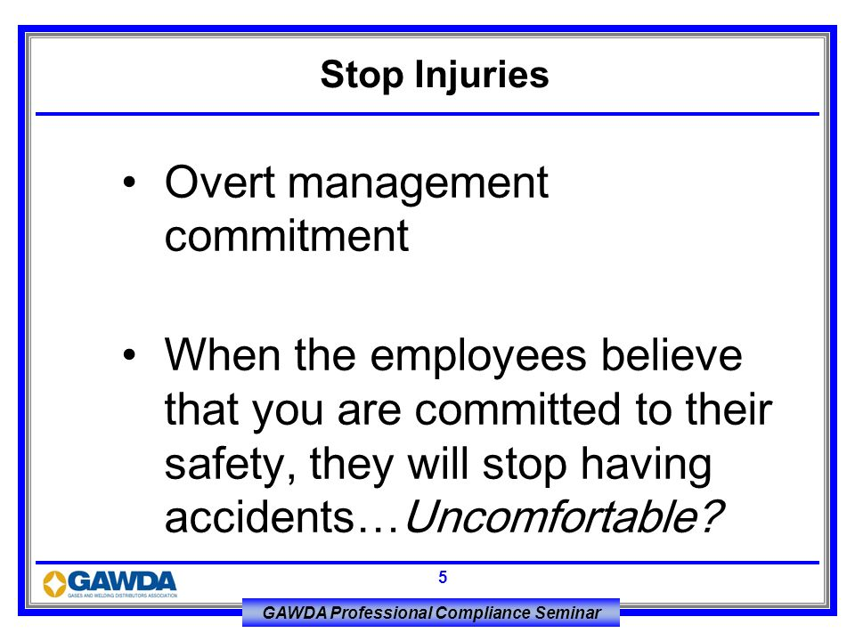Overt management commitment