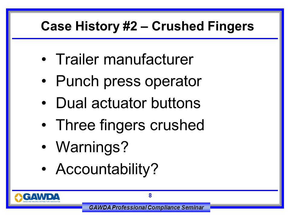 Case History #2 – Crushed Fingers