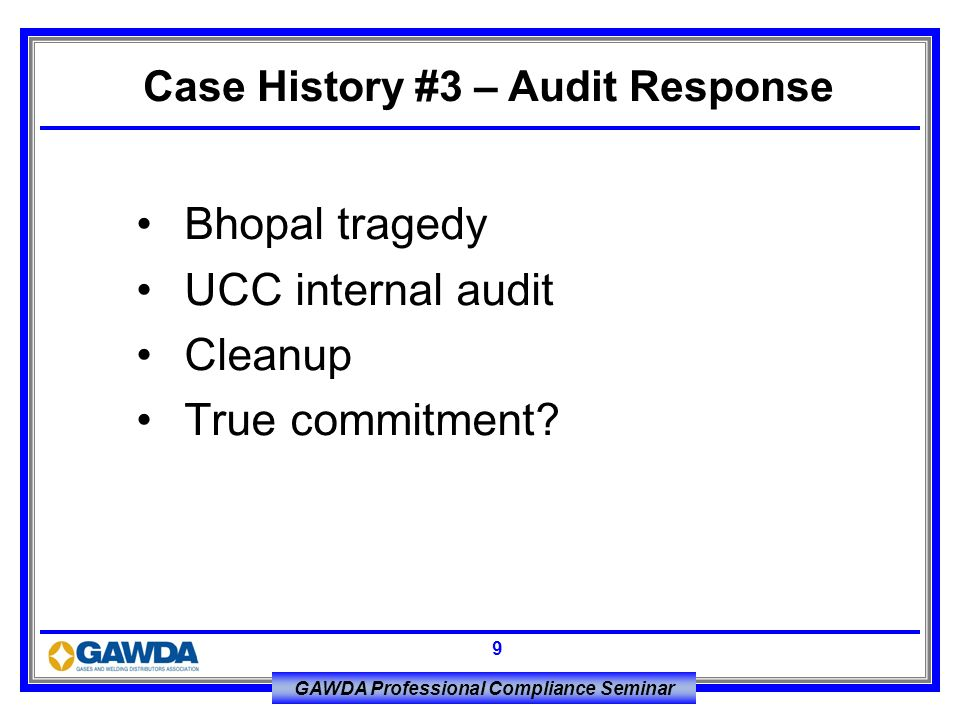 Case History #3 – Audit Response