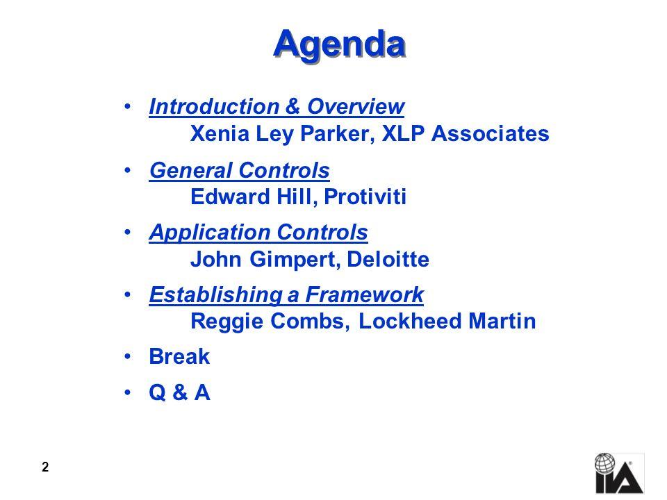 Agenda Introduction & Overview Xenia Ley Parker, XLP Associates