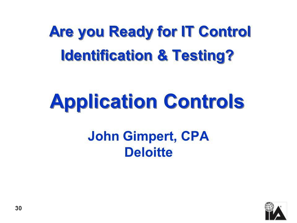 John Gimpert, CPA Deloitte