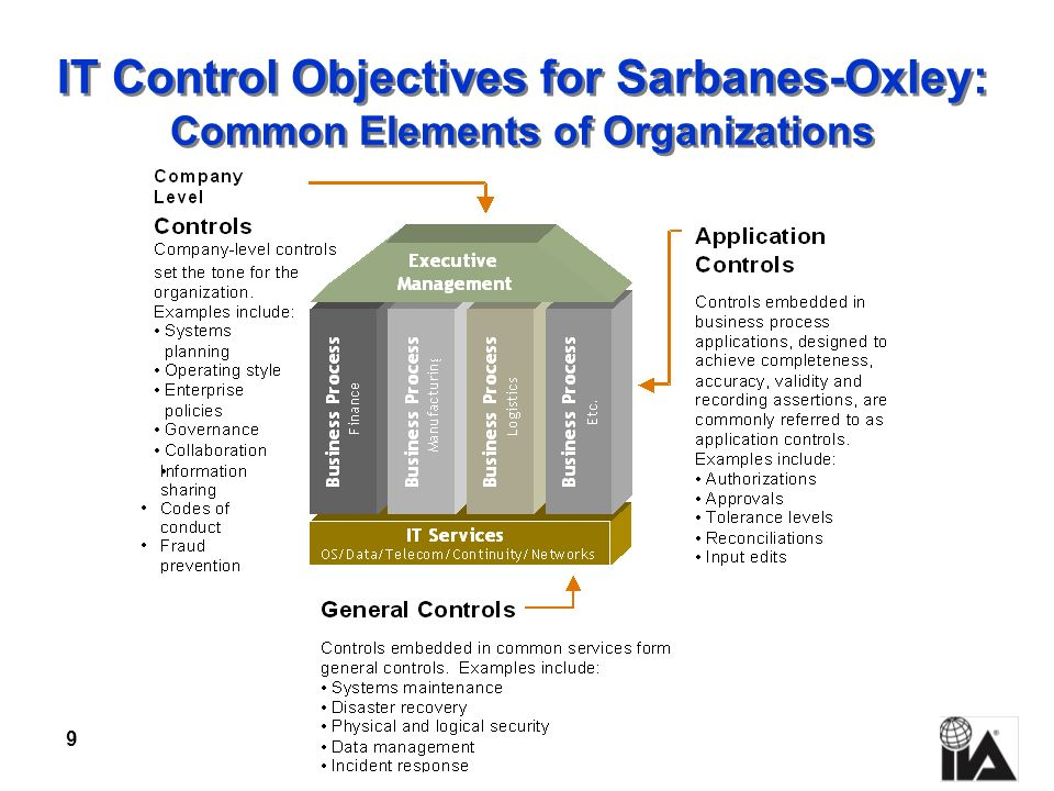 IT Control Objectives for Sarbanes-Oxley: Common Elements of Organizations
