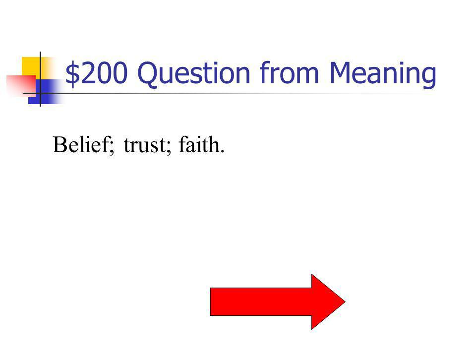 $200 Question from Meaning