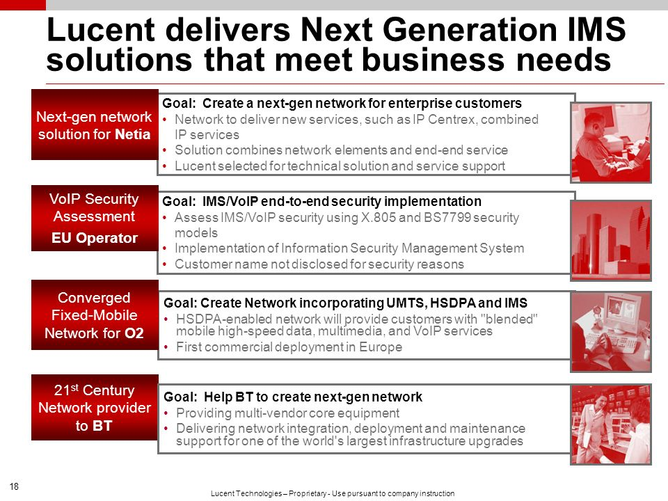 Lucent delivers Next Generation IMS solutions that meet business needs