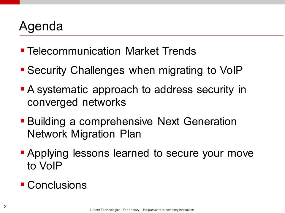 Agenda Telecommunication Market Trends