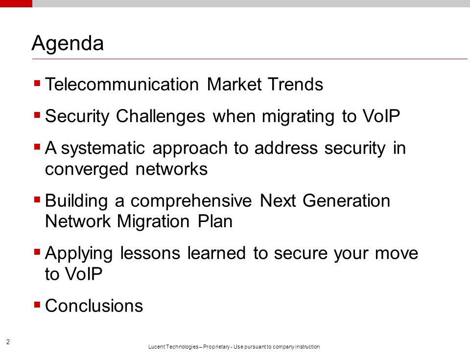 Agenda Telecommunication Market Trends