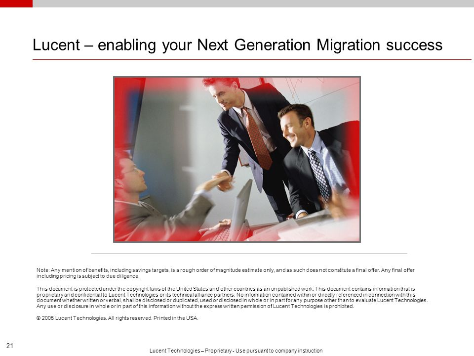 Lucent – enabling your Next Generation Migration success